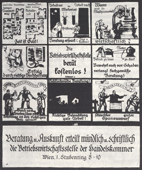 Handelskammer, Werbeplakat