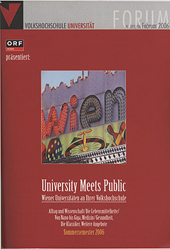 university meets public_Cover Sommersemester 2006