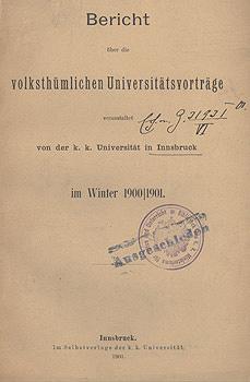 Volkstümliche Uni-Vorträge Innsbruck_Bericht