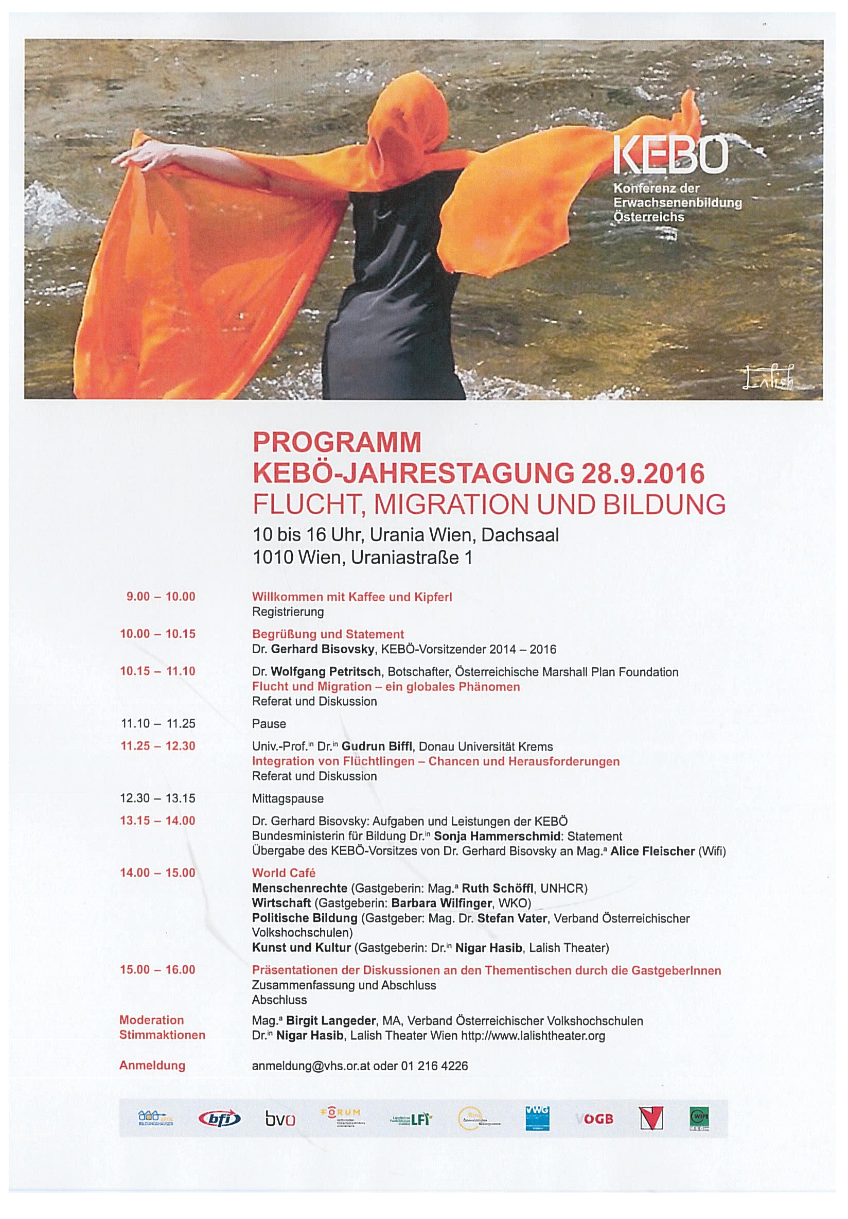 KEBÖ Jahrestagung 2016 Programm